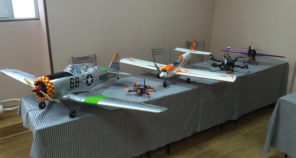 Экспозиция моделей на 90-летие ДОСААФ